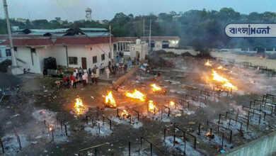 Photo of ভয়াবহ দৃশ্য শিলিগুড়িতে, একসঙ্গে পোড়ানো হল ৪৯ মৃতদেহ