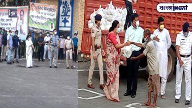 Photo of ফুটপাথবাসী এবং রিক্সাচালকদের খাদ্য সামগ্রী বিতরণ করেলেন মমতা বন্দ্যোপাধ্যায়