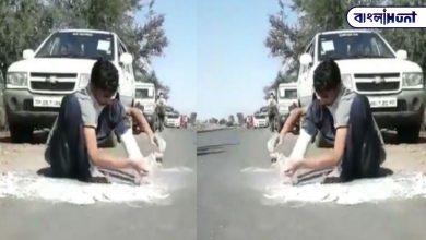 Photo of পায়ের ভারী প্লাস্টার কেটে ২৪০ কিমি পাড়ি ভিনরাজ্যের শ্রমিকের, তুমুল ভাইরাল ভিডিও