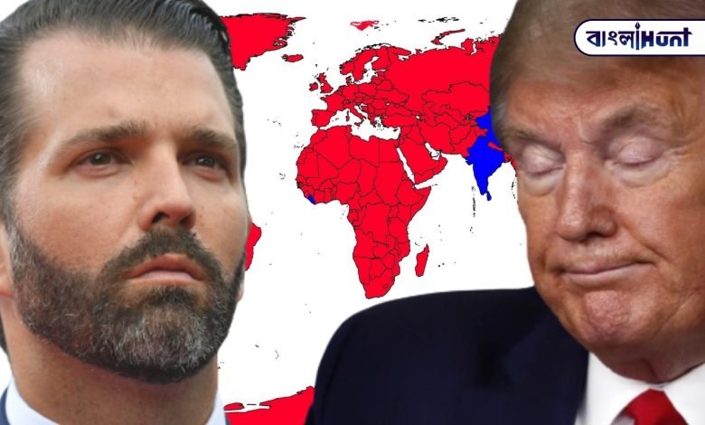 Trump's son shared a controversial map of India, showing Jammu and Kashmir separately from India