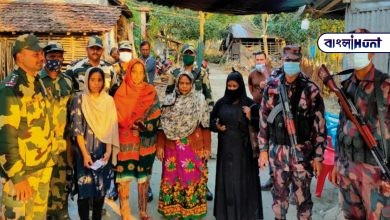 Photo of অবৈধভাবে ভারতে প্রবেশের পথে পাকড়াও ৭ বাংলাদেশি, সীমান্তে BGB-র হাতে তুলে দিল BSF