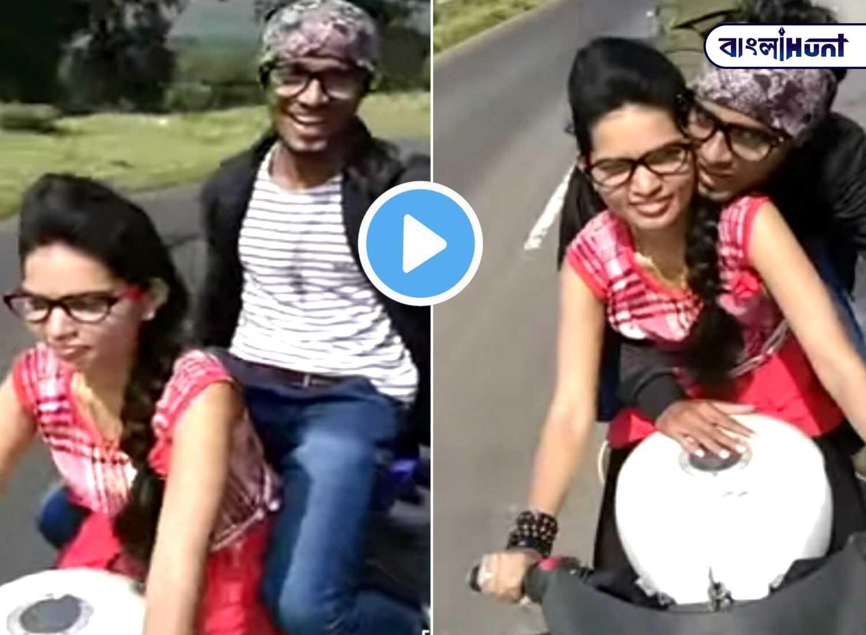 Boyfriend sitting in backseat, girlfriend riding bike at storm speed: video viral
