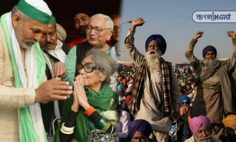 Gandhiji's granddaughter tara gandhi bhattacharjee Stood beside farmer