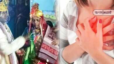 Photo of মর্মান্তিকঃ কনে বিদায়ের মুহূর্তেই শোকের ছায়া, কান্নায় ভেঙ্গে হৃদরোগে প্রাণ হারালেন নববধূ