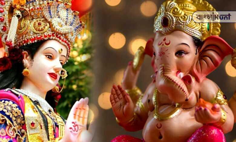 Goddess Ganesha created the goddess Santoshi