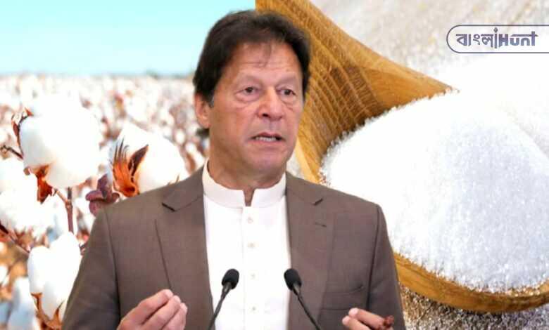 imran khan again ban on sugar-cotton imports from India