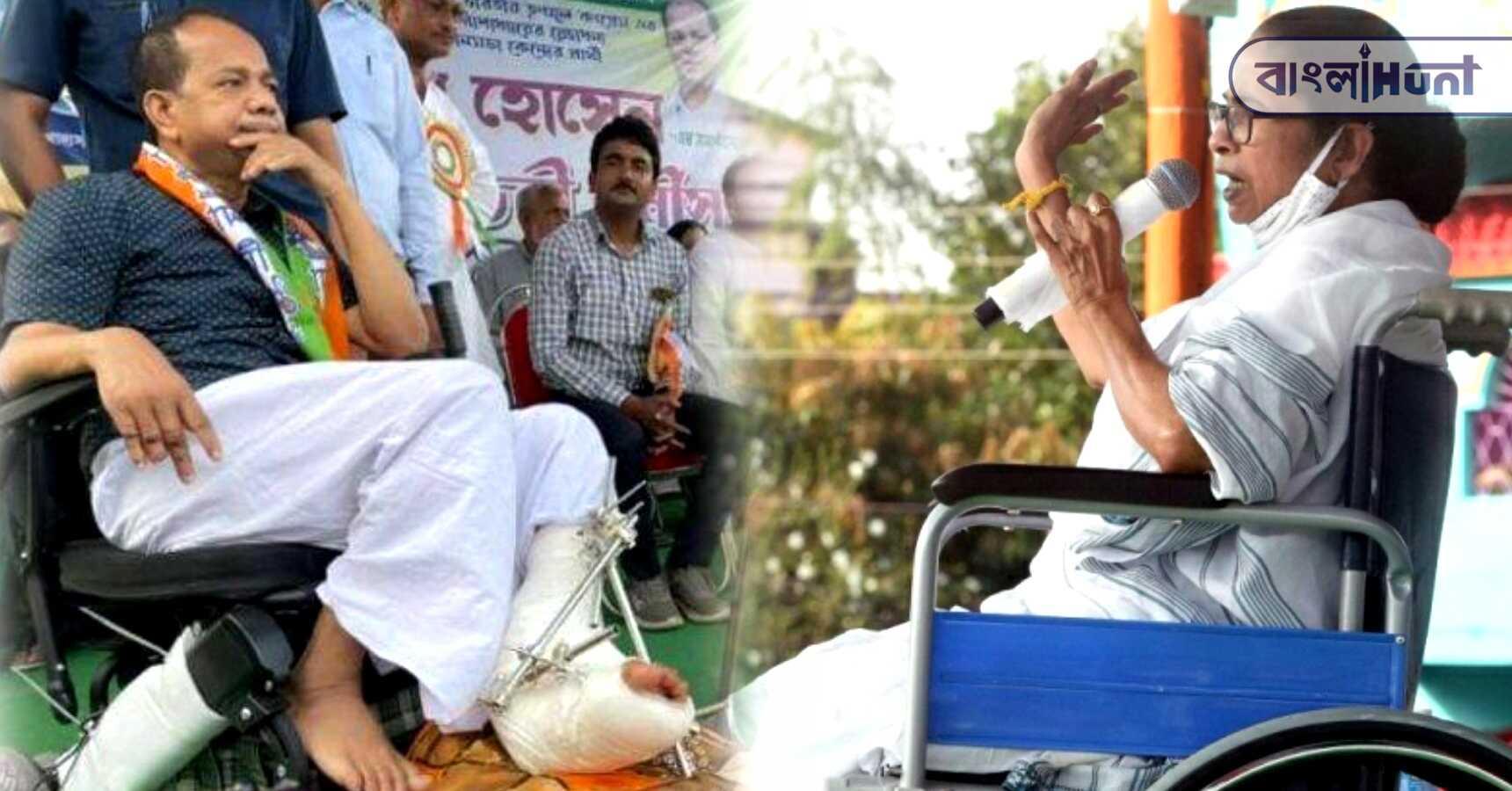 Jakir Hossain is promoting in a wheelchair