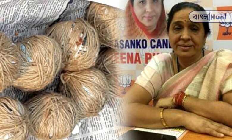 Tmc is accused of targeting BJP candidate Meena Devi's car