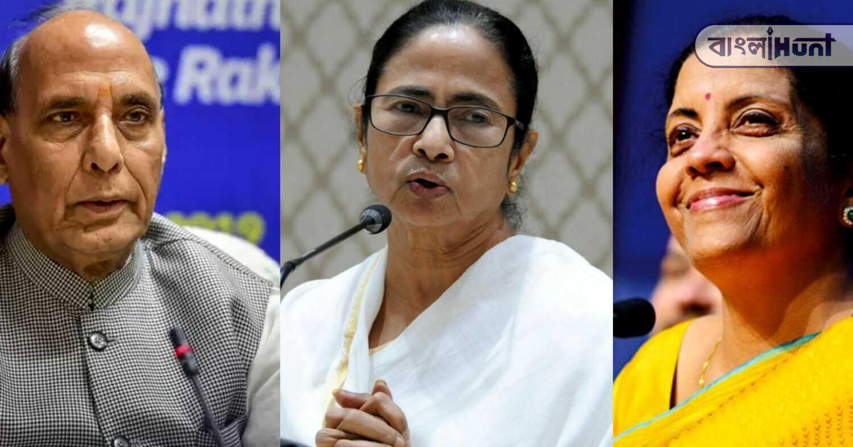 Nirmala Sitharaman and Rajnath Singh wishes Mamata Banerjee