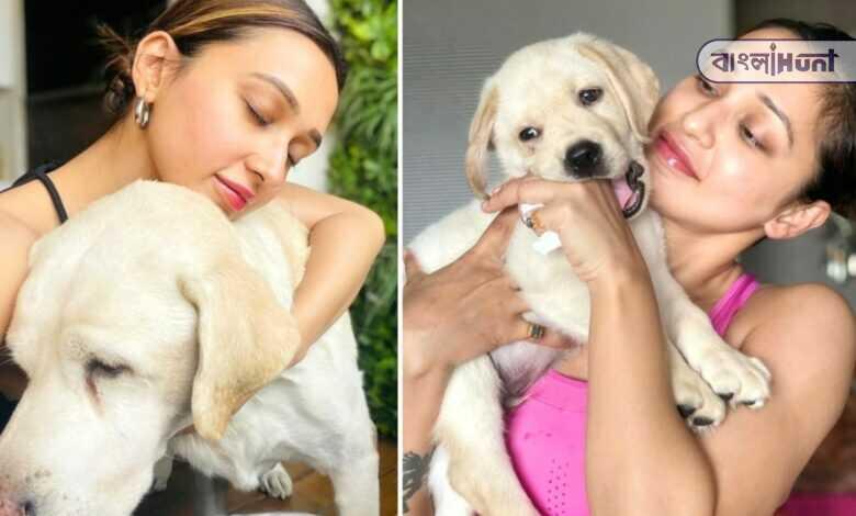 mimi chakraborty shared a photo of his pet dog