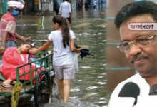 """Photo of জলমগ্ন কলকাতা, প্রাণ ওষ্ঠাগত শহরবাসীর! 'পুরসভার হাতে জাদুকাঠি নেই"""" বললেন ফিরহাদ"""