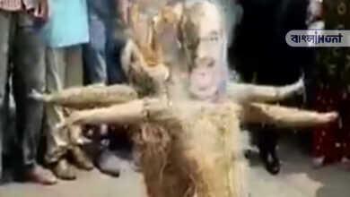 Photo of ত্রিপুরার ক্ষোভ জলপাইগুড়িতে, ভাঙচুর বিজেপির পার্টি অফিস, অমিত শাহের কুশপুতুল পোড়ালো যুব তৃণমূল