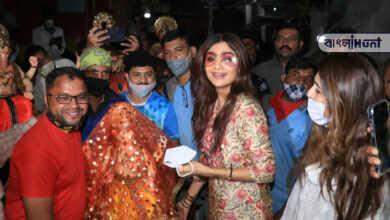 Photo of পাশে নেই স্বামী রাজ, বিঘ্ন দূর করতে গণপতি বাপ্পাকে একাই বাড়ি নিয়ে এলেন শিল্পা