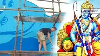 Photo of রাম ভক্তিতে বিলীন ফরাসি চিত্রশিল্পী, অযোধ্যার দেওয়ালে তুলির টানে ফুটিয়ে তুলছেন ভগবান রামের চিত্র