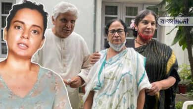 "Photo of জাভেদ-শাবানার সঙ্গে সাক্ষাত নিয়ে মুখ্যমন্ত্রীকে 'তারকা রাক্ষসীর"" সঙ্গে তুলনা কঙ্গনার"
