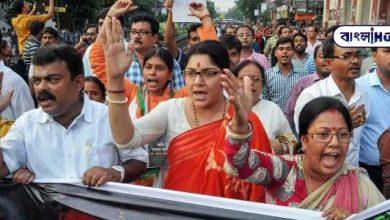 "Photo of ""নারীদেহ প্রদর্শনকারী পোশাক বন্ধ হোক"", বাঙালি মহিলা সমাজের টাঙানো হোর্ডিং এর বিরুদ্ধে প্রতিবাদে গর্জে উঠলেন সাংসদ লকেট চট্টোপাধ্য়ায়"