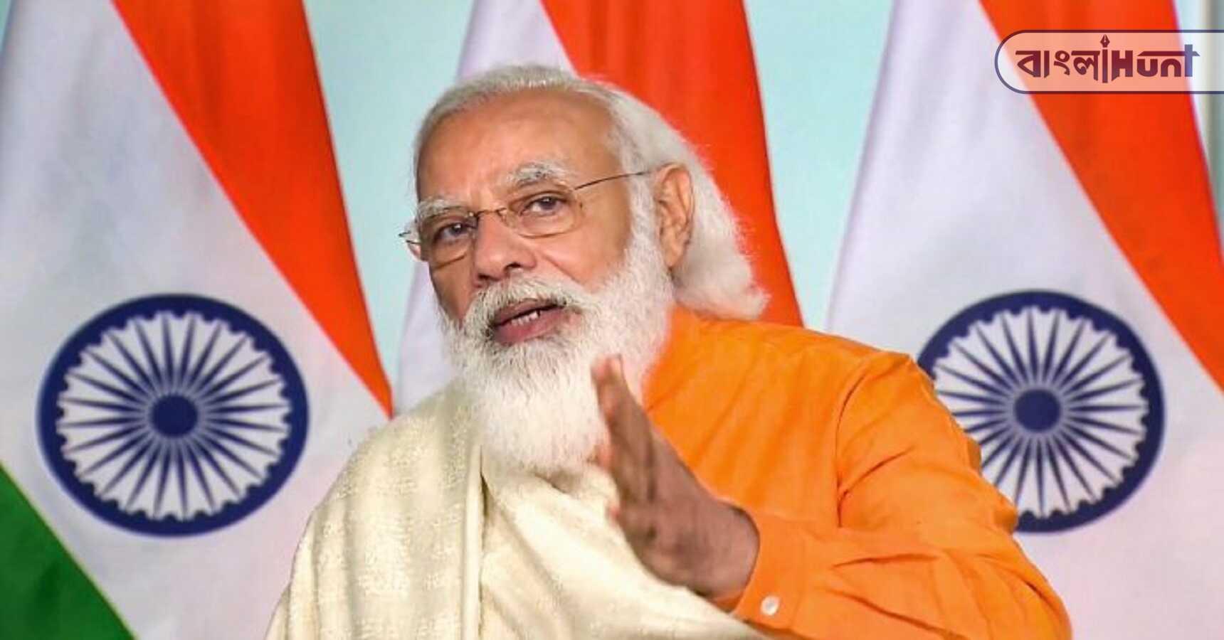 narendra modi speaks about toolkit on visva bharati university