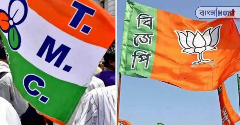 BJP vandalized tmc camp office!